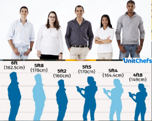 Human Height A Short List Of Famous People S Heights Unitchefs